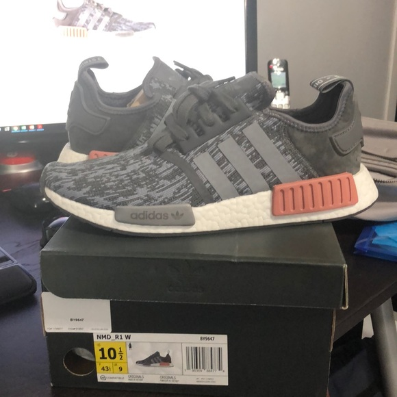 "Adidas NMD_R1 W ""Heather Grey Raw Pink"" NWT"